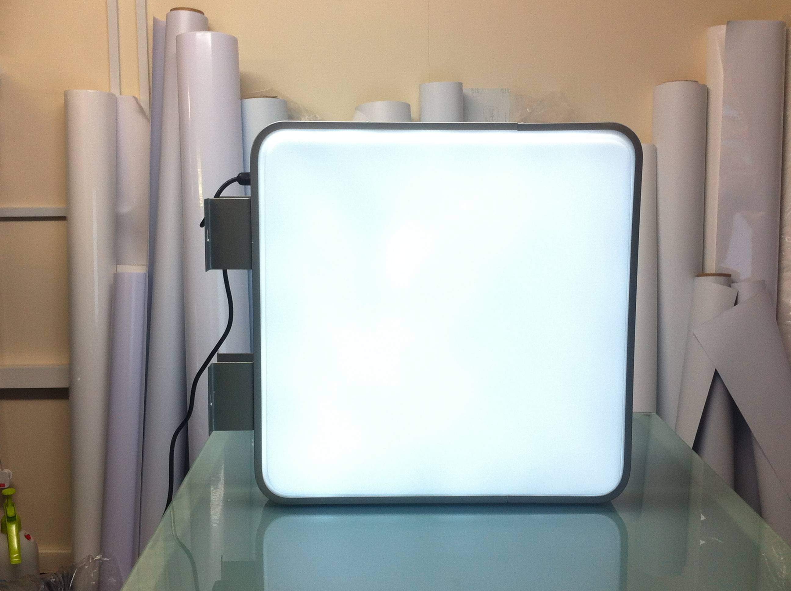 55cm Square Projecting Light Box LED