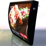 Curved menu box